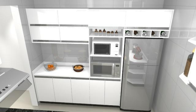Cozinha armário Planejado 100% MDF. S/ a pedra