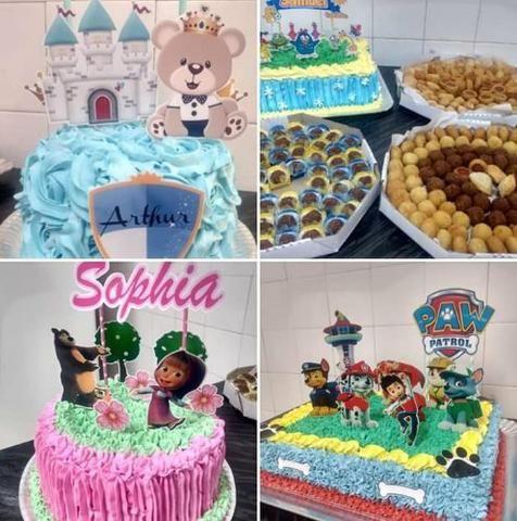 Kit festa bolos doces salgadinhos mini cachorro quente cupcake - Foto 4