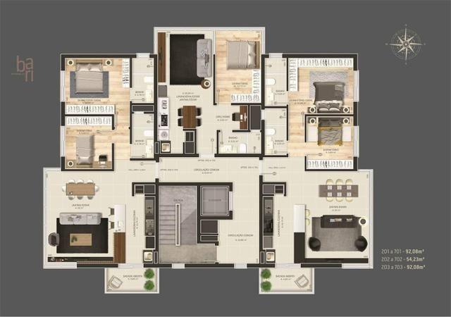 Vendo excelente apartamento em construção, a uma quadra do centro - Foto 3