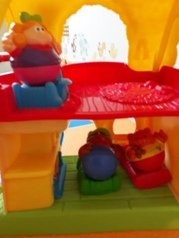Casinha caichinhiinhos dourado e 2 ursinhos - Foto 3