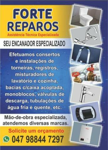 Consertos de Torneiras e Registros - FORTE Reparos- Meia Praia/Itapema SC - Foto 2