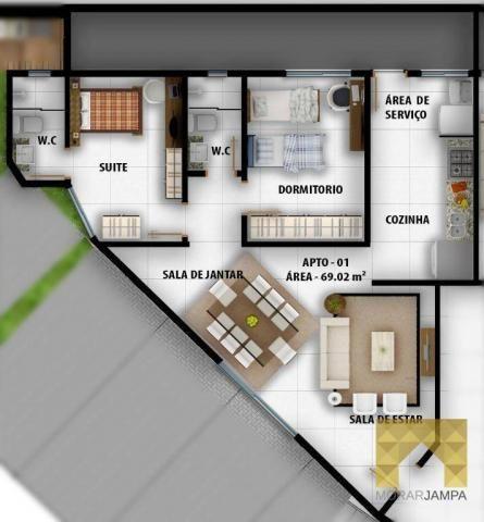 Apartamento com 2 Quartos à venda, 66 m² por R$ 178.000 - Castelo Branco - João Pessoa/PB - Foto 11