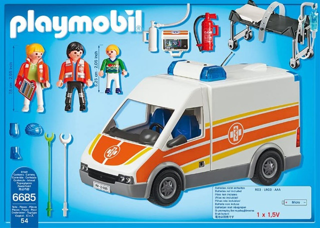Playmobil 6685 City Life - Ambulance with lights and sound - Foto 2