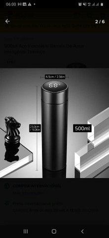 Garrafa térmica inox com termômetro  - Foto 3