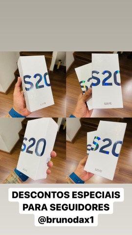 Galaxy s20fe azul - ótimo custo benefício - parcelo em até 18x