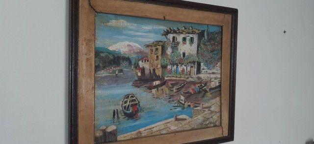 quadro do  pintor Tomaz A.Ribas 1986 - Foto 2