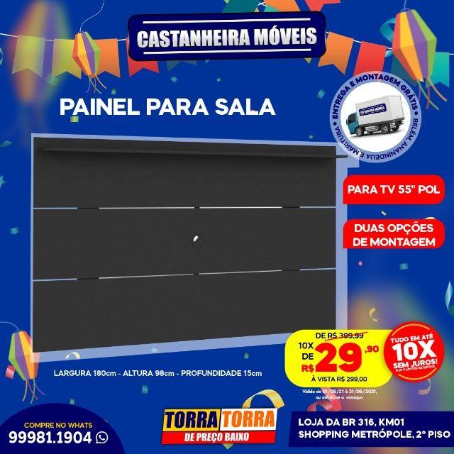 Painel Slim, p/ Tv's de até 55 polegadas, 10x  de R$ 29,90, sem Juros!!