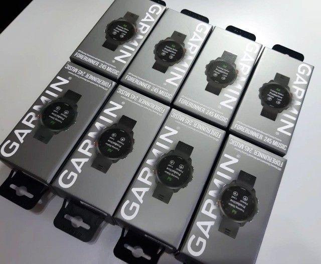 Relógio Com Gps Garmin Forerunner 245 Music Preto - Novo - Pronta Entrega! - Foto 6