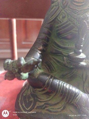 Maravilhosa Ganesha,Buda em Bronze (antiga) - Foto 5