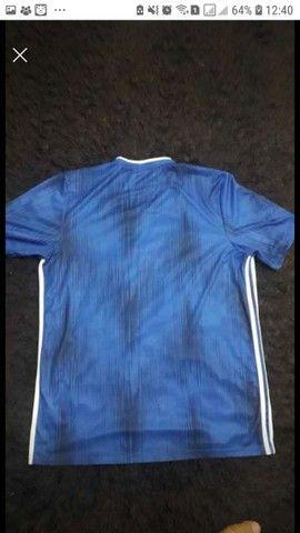 camisa adidas Tiro 19 azul GG - Foto 3