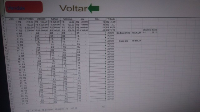 Planilha lanchonete  fluxo de caixa em Excel - Foto 2