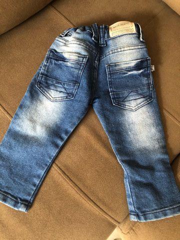 Calça jeans menino com regulador  - Foto 2
