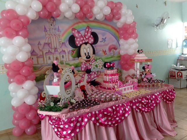 Minnie Rosa - Kit Escola - decoração temática infantil