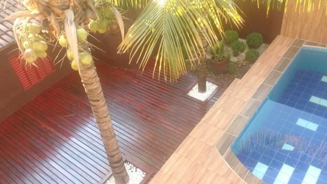 Casa com piscina sala de comércio barraco de aluguel - Foto 9
