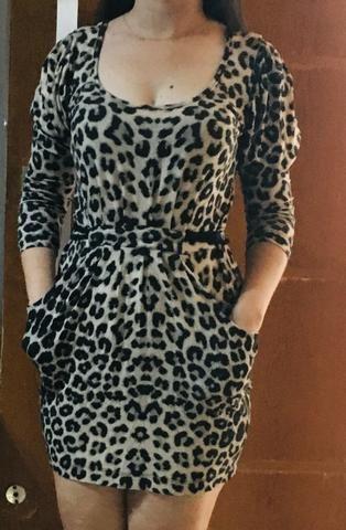 Vestido estampa onça - Foto 3