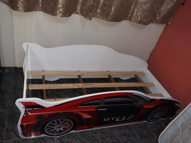 Mini cama infantil com o colchão - Foto 2