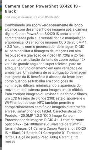 Câmera Cânon PowertShot SX420 IS - preta - Foto 5