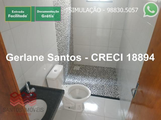Escritura Grátis Casa 02 Quartos, 2 banheiros, 2 garagens - Foto 7
