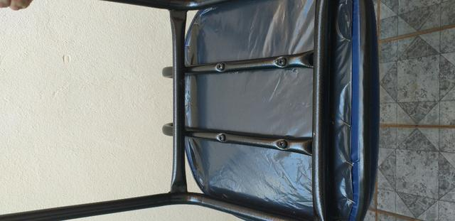 Cadeira Executiva Fixa no Courvin Azul - Foto 4