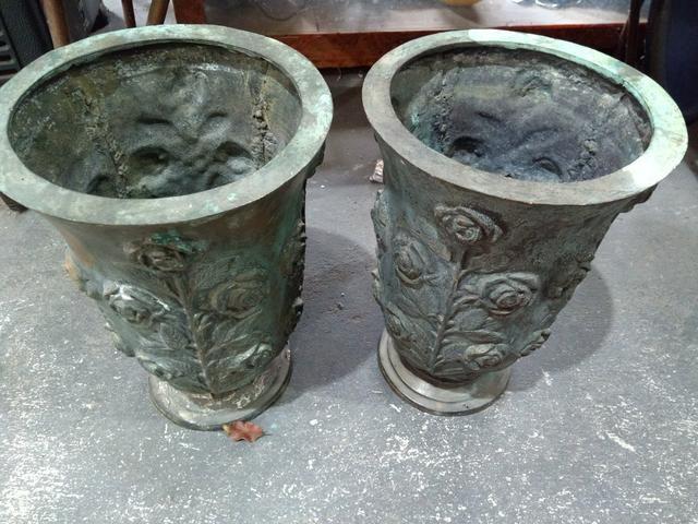 """Vaso Antigo Bronze"""" Par"""""""
