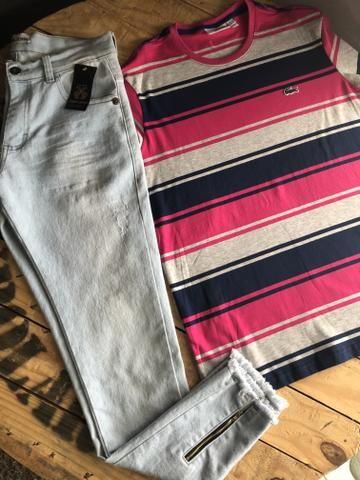 Calças bermudas camisetas shorts - Foto 6