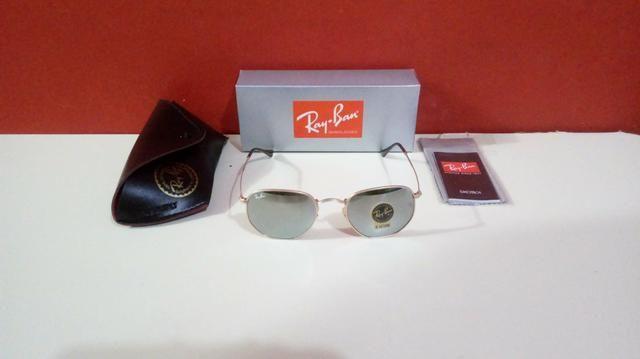 Óculos Ray Ban Hexagonal Espelhado Unissex Novo Frete grátis - Foto 6