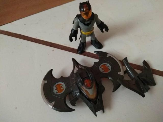 Batcaverna + Batman armadura de combate imaginext - Foto 3