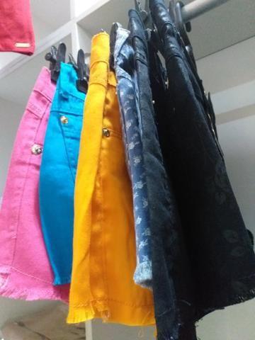 Vendo lote de shorts jeans novos na etiqueta 270 sai a 15,00 cada peças - Foto 2