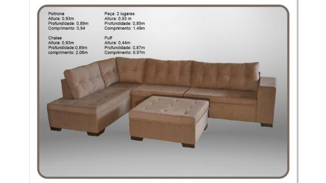 Sofa gigante de canto de 1.999 agora por apenas 1.599 a vista whatsapp;na descrição - Foto 4