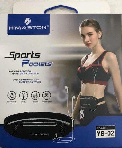 Pochete para atividade física Slim Pochete Bolsa De Cintura Porta Celular