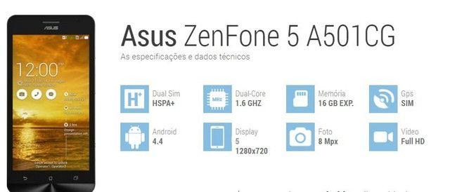 Asus ZenFone 5 A501CG Lindo Impecável 16 Gb com Pelicula de Vidro e Carregador - Foto 6