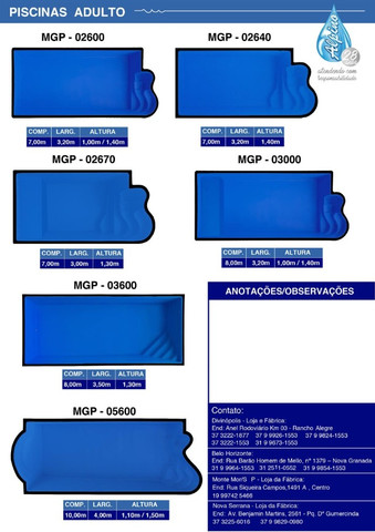 LS - Piscina de fibra 4,00 x 2,00 x 1,20 de profundidade - direto da fabrica - Foto 4