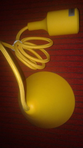 Canopla Light Silicone 112cm E27 Bivolt Amarela - Foto 2