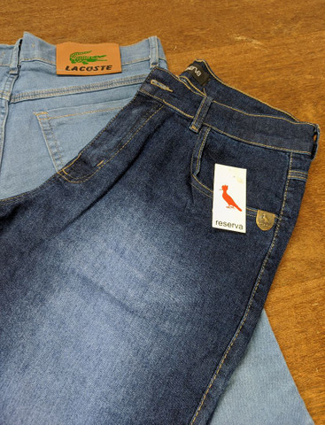 Bermudas jeans Masculinas modelos lisas e destroyed Tamanhos 38 a 42 - Foto 2