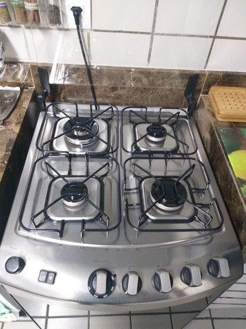 Fogão Brastemp Inox 4 bocas com grill - Foto 3