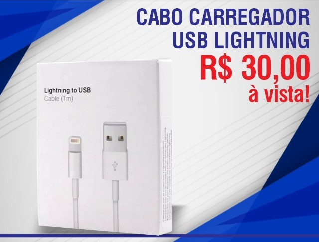 Cabo Carregador Usb Lighting 1 Metro