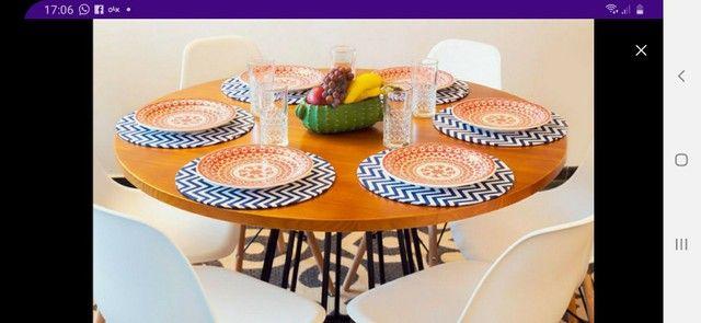 Conjunto Mesa estilo Industrial 1,15 + 4 cadeiras Eiffel!! - Foto 4