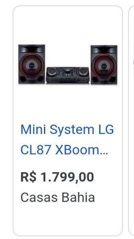Mini system LG  XBOOM 1800w - Foto 5