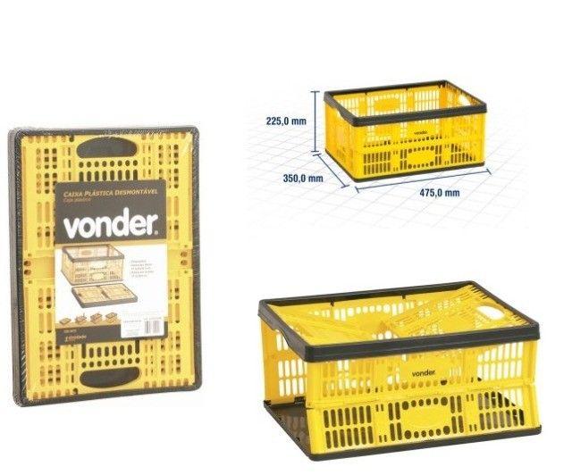 Caixa Plástica Desmontável 45x35x22 cm Vonder - Foto 5