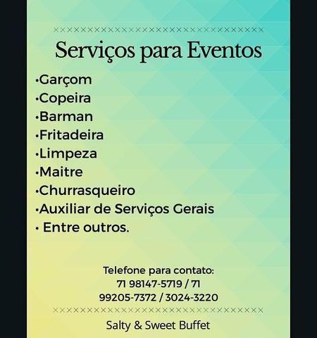 Serviços para eventos