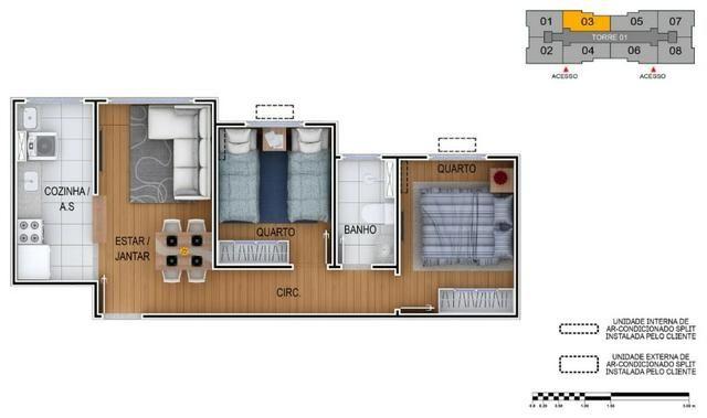 2 Dorms em Santo Andre A Partir R$ 220mil Entrada Facilitada em ate 60X - Foto 3