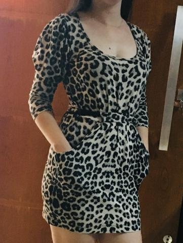 Vestido estampa onça - Foto 2