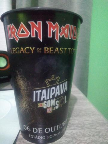 Copo personalizado do Show do Iron Maiden