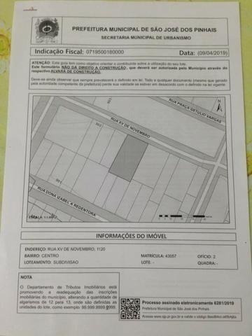 Vende-se Terreno Comercia Residencial Rua XV centro de São José dos Pinhais - Foto 4