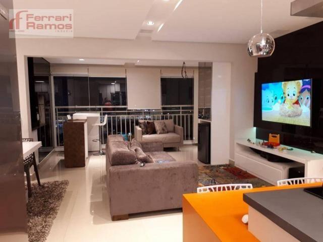 Apartamento com 3 dormitórios à venda, 92 m² por r$ 699.000 - vila augusta - guarulhos/sp