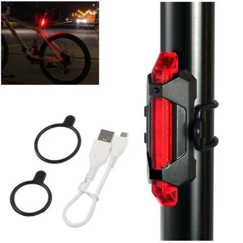 Lanterna Traseira Bike Recarregável - Resistente Água - Foto 6