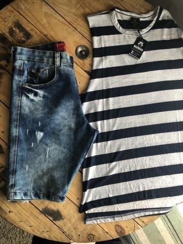 Calças bermudas camisetas shorts