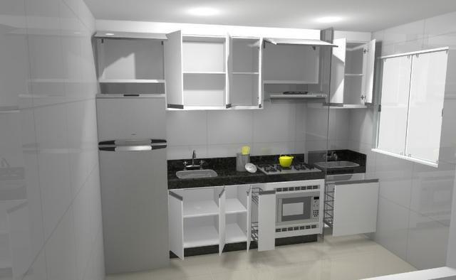 Cozinha armário Planejado 100% MDF. S/ a pedra - Foto 3