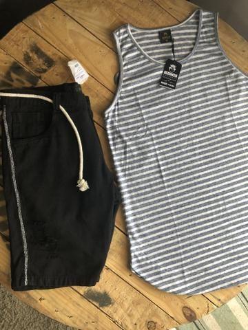 Calças bermudas camisetas shorts - Foto 3