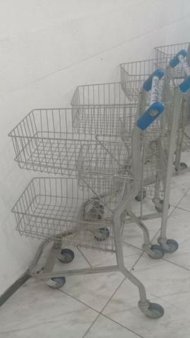 Carrinho supermercado 2 andar - Foto 2